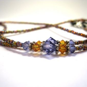 Tanzanite and Topaz Lanyard