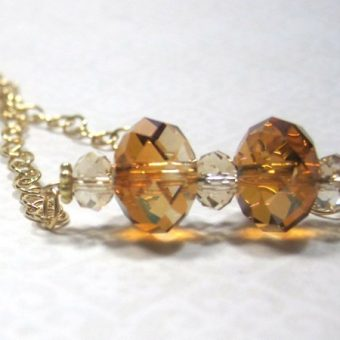 Crystal Golden Shadow Necklace