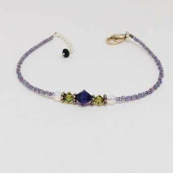 Purple and green simple bracelet.